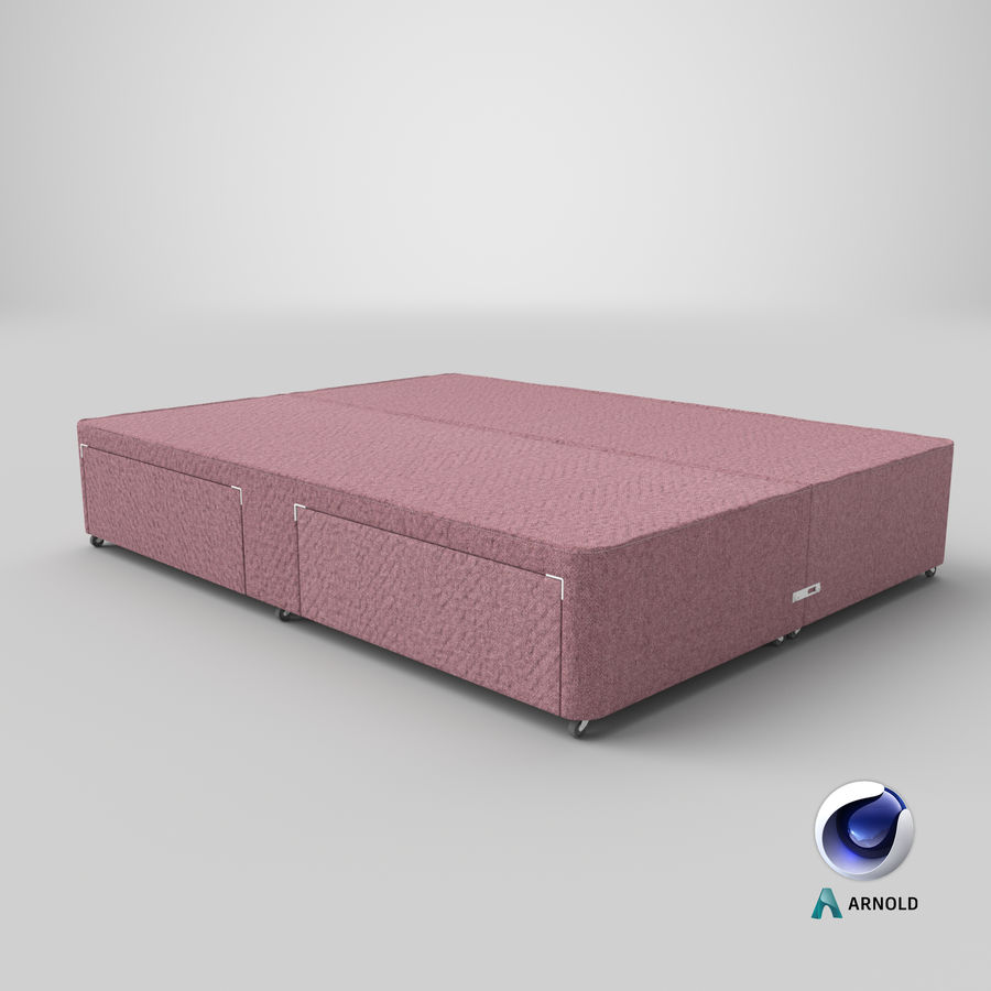 Bed Base 01 Blush1 royalty-free 3d model - Preview no. 22