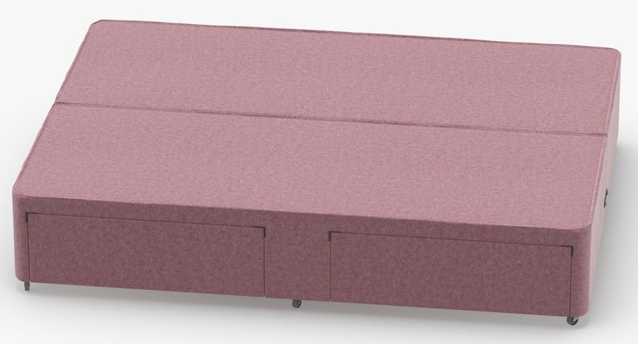 Bed Base 01 Blush(1) royalty-free 3d model - Preview no. 5