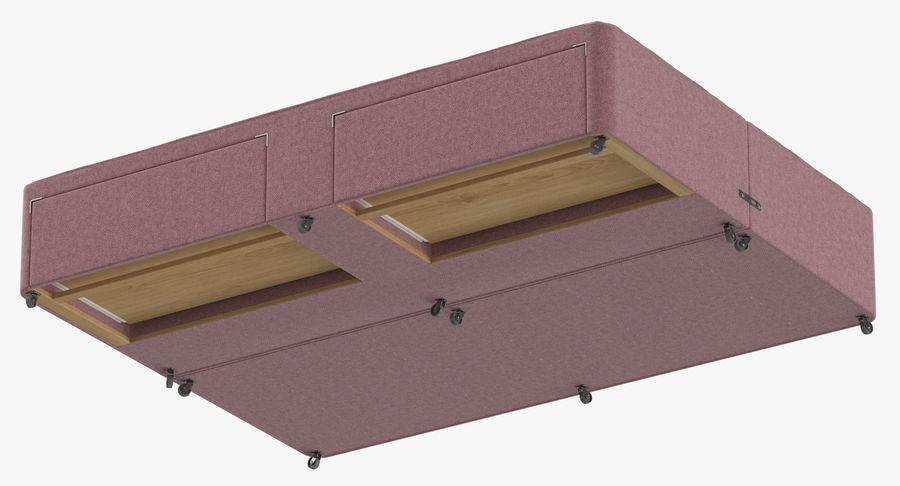 Bed Base 01 Blush(1) royalty-free 3d model - Preview no. 9