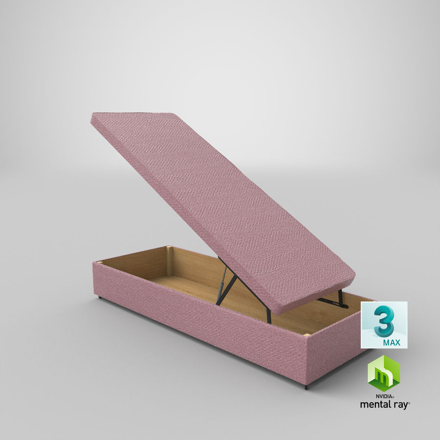 Bed Base 02 Open Blush royalty-free 3d model - Preview no. 23
