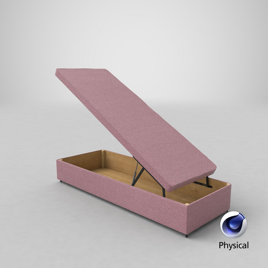 Bed Base 02 Open Blush royalty-free 3d model - Preview no. 20