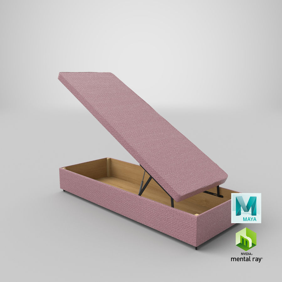 Bed Base 02 Open Blush royalty-free 3d model - Preview no. 26