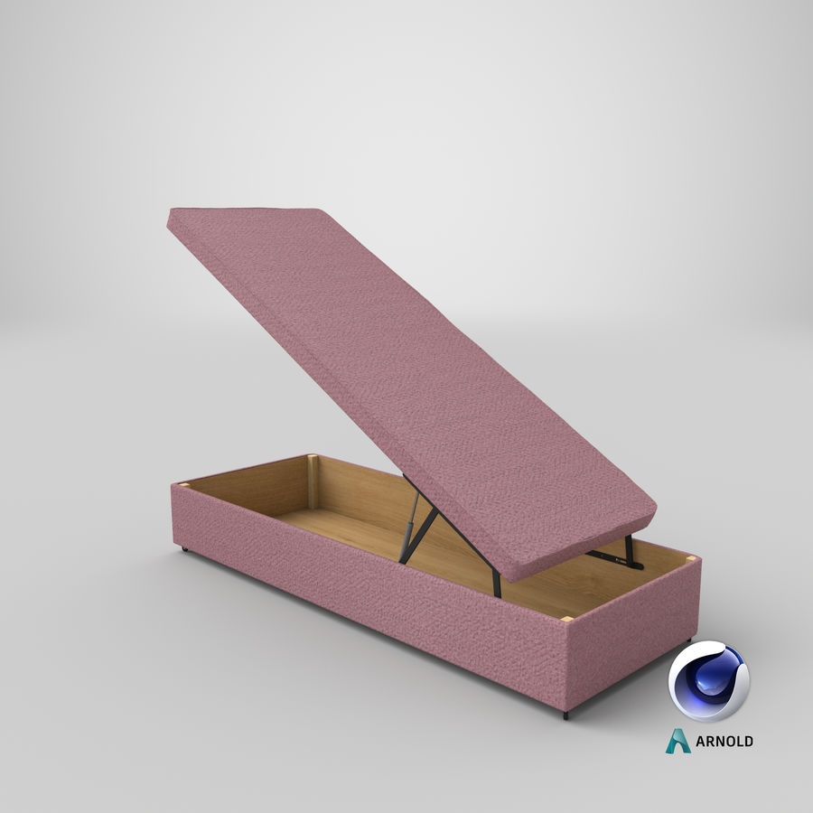 Bed Base 02 Open Blush royalty-free 3d model - Preview no. 21
