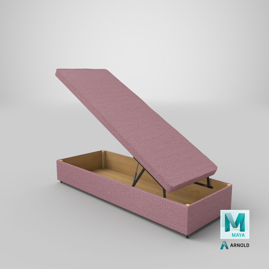 Bed Base 02 Open Blush royalty-free 3d model - Preview no. 25