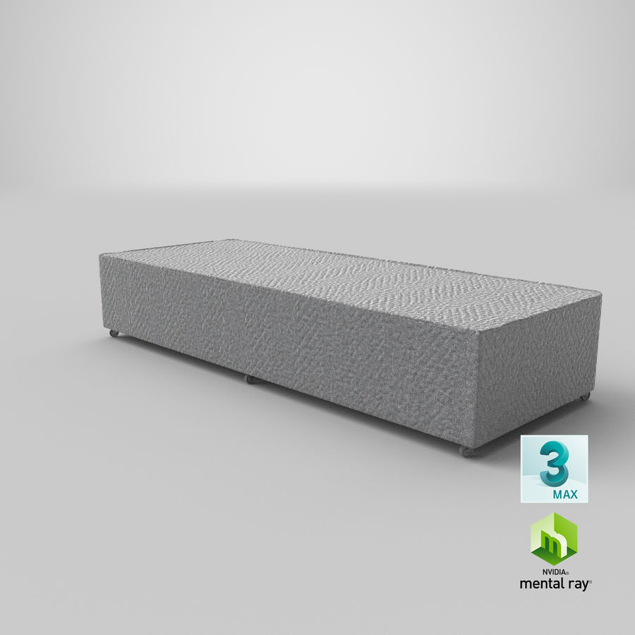 Bed Base 04 Grey royalty-free 3d model - Preview no. 23
