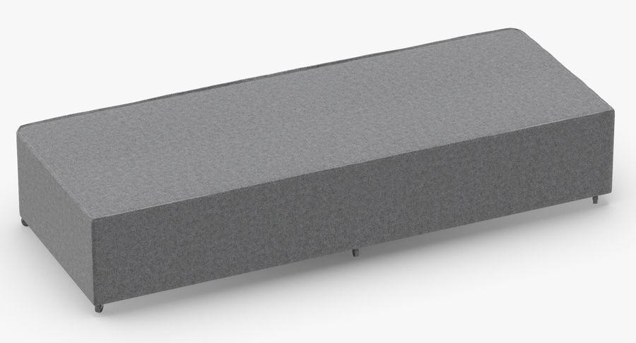 Основание кровати 04 Серый royalty-free 3d model - Preview no. 5