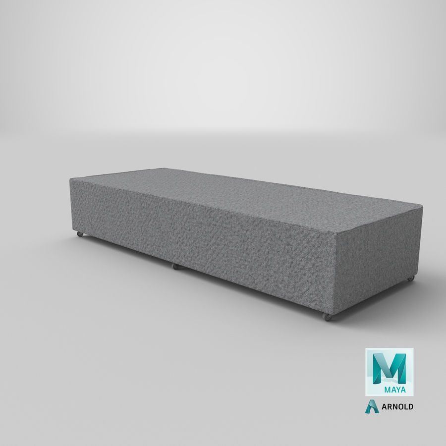 Bed Base 04 Grey royalty-free 3d model - Preview no. 25