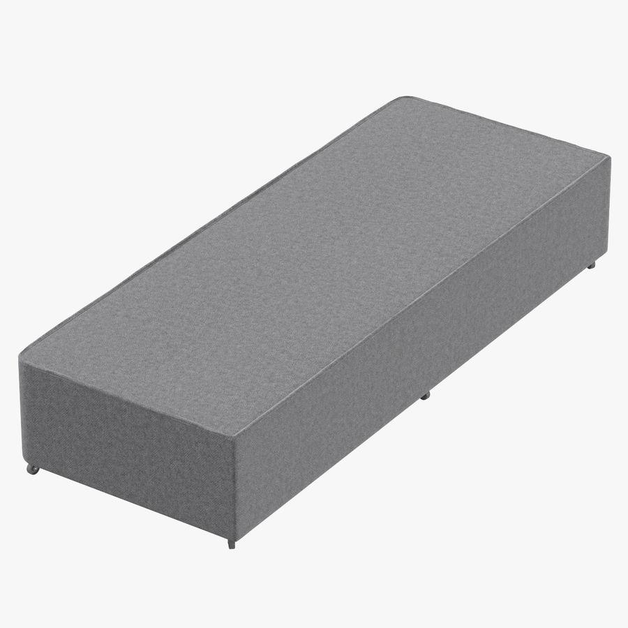 Основание кровати 04 Серый royalty-free 3d model - Preview no. 1