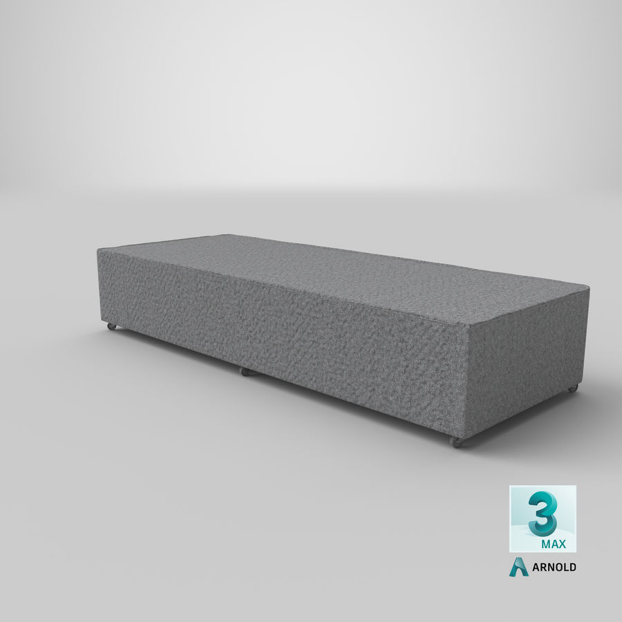Bed Base 04 Grey royalty-free 3d model - Preview no. 22