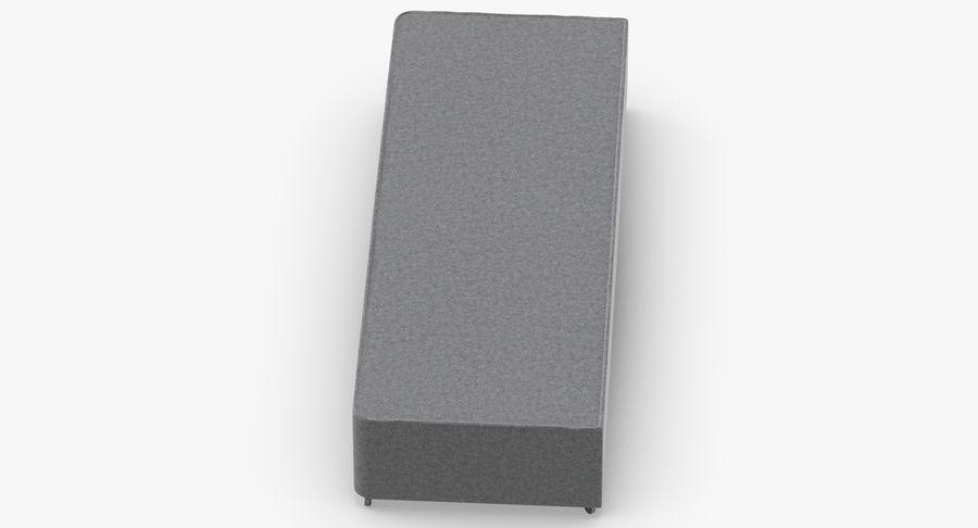 Основание кровати 04 Серый royalty-free 3d model - Preview no. 7