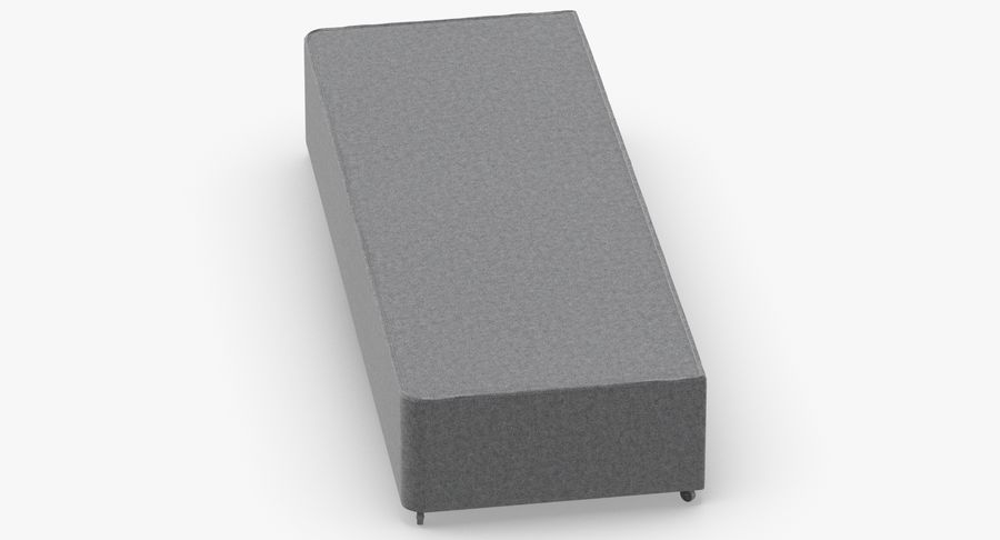 Bed Base 04 Grey royalty-free 3d model - Preview no. 4