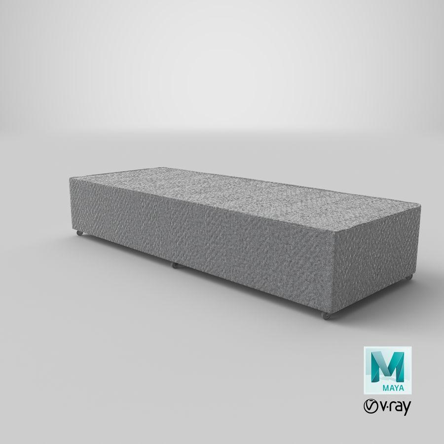 Основание кровати 04 Серый royalty-free 3d model - Preview no. 27