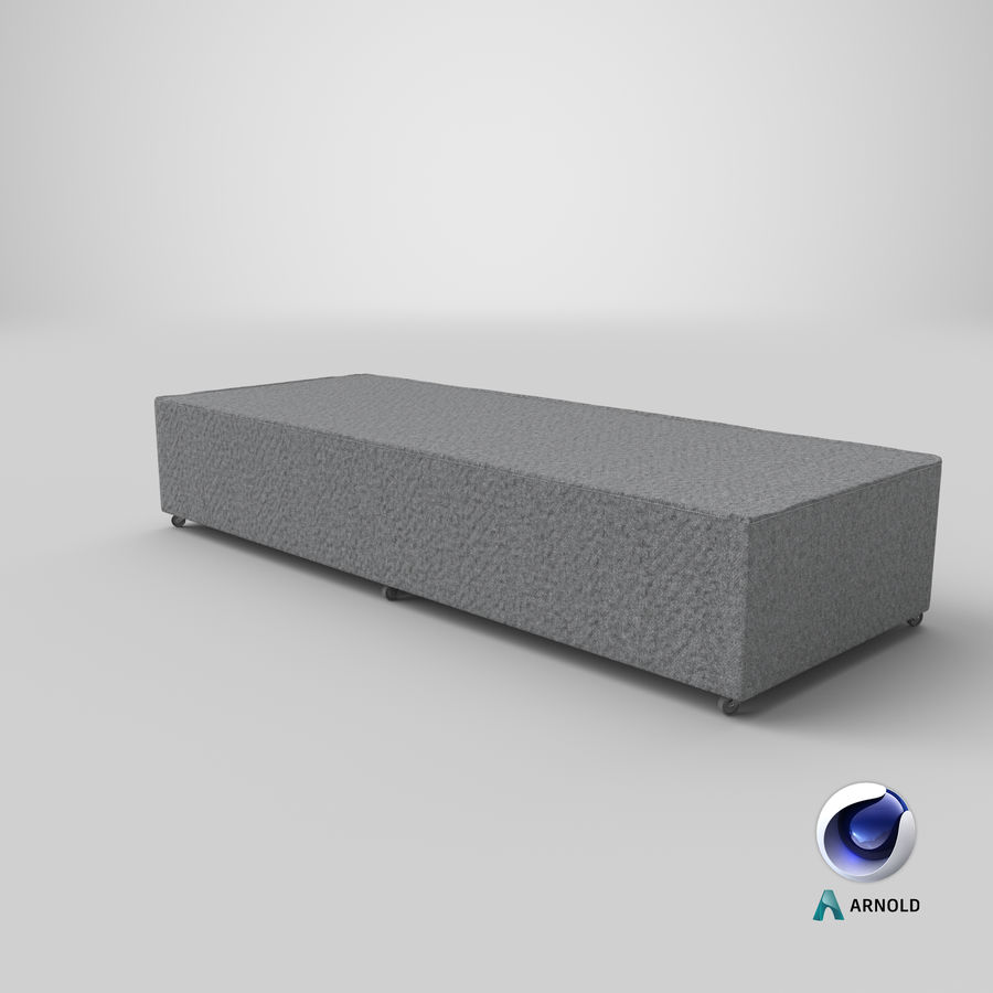 Bed Base 04 Grey royalty-free 3d model - Preview no. 21
