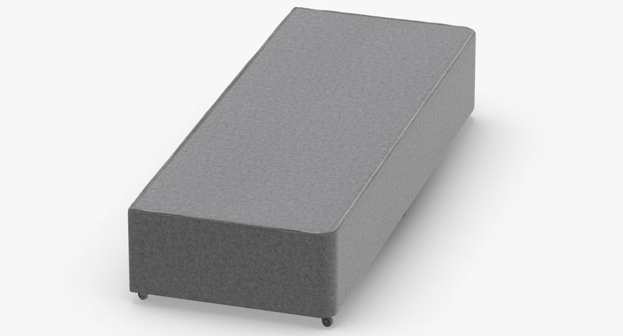 Bed Base 04 Grey royalty-free 3d model - Preview no. 6