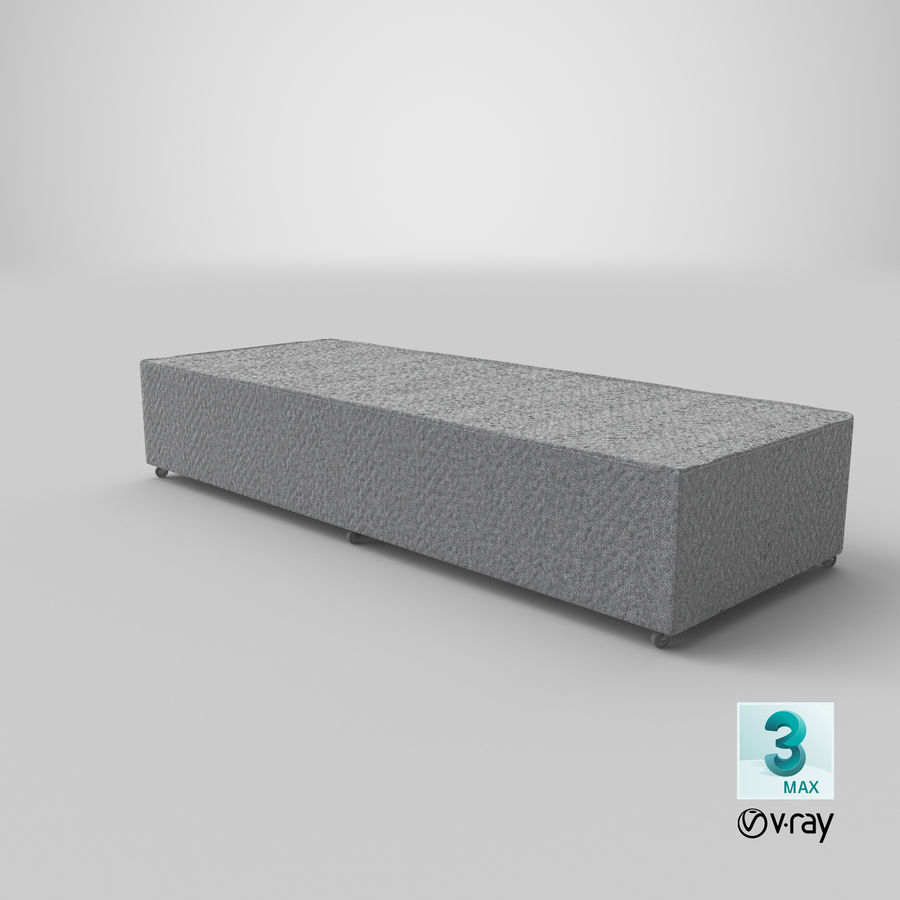 Bed Base 04 Grey royalty-free 3d model - Preview no. 24