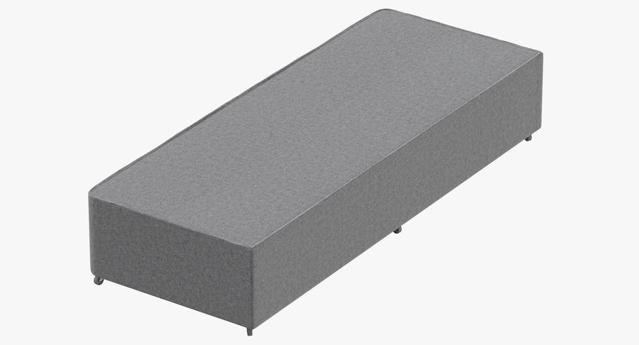 Основание кровати 04 Серый royalty-free 3d model - Preview no. 2