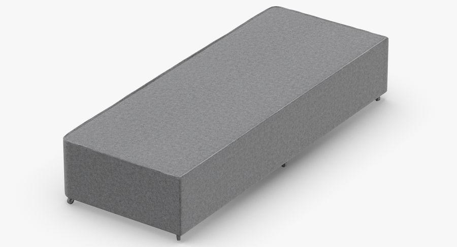 Основание кровати 04 Серый royalty-free 3d model - Preview no. 3