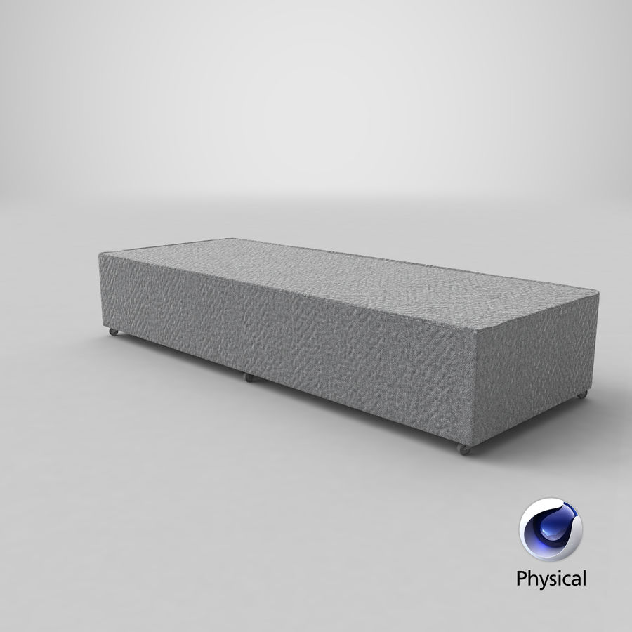 Bed Base 04 Grey royalty-free 3d model - Preview no. 20