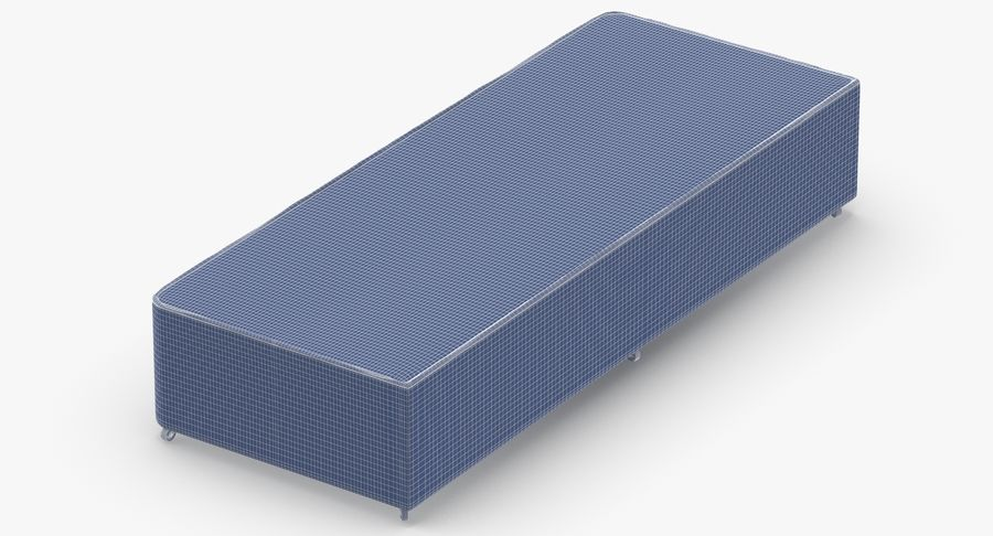 Bed Base 04 Mint royalty-free 3d model - Preview no. 11