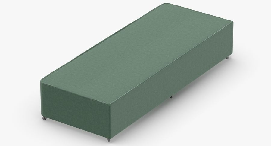 Bed Base 04 Mint royalty-free 3d model - Preview no. 3