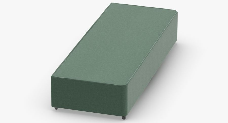 Bed Base 04 Mint royalty-free 3d model - Preview no. 6