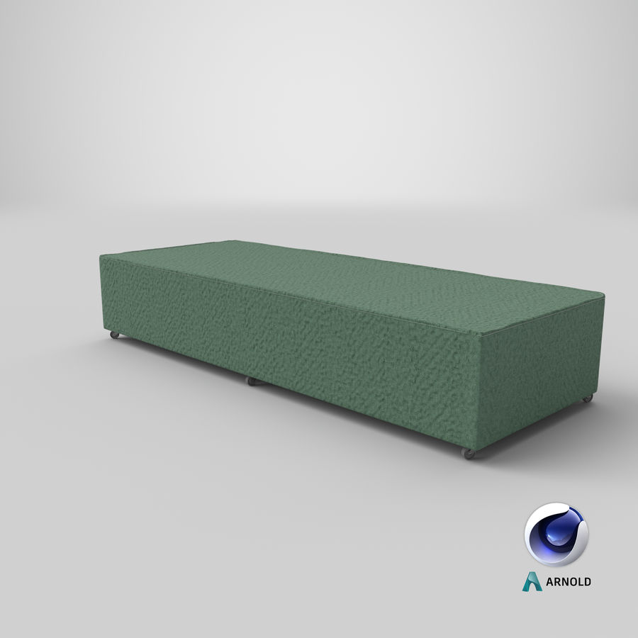 Bed Base 04 Mint royalty-free 3d model - Preview no. 21