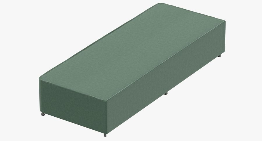 Bed Base 04 Mint royalty-free 3d model - Preview no. 2