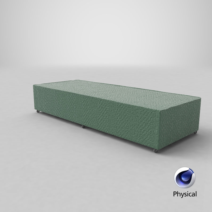 Bed Base 04 Mint royalty-free 3d model - Preview no. 20