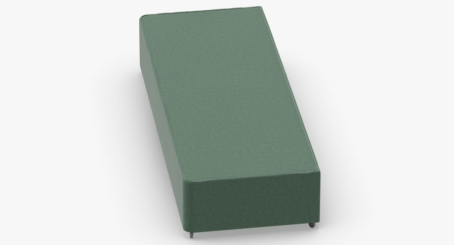 Bed Base 04 Mint royalty-free 3d model - Preview no. 4