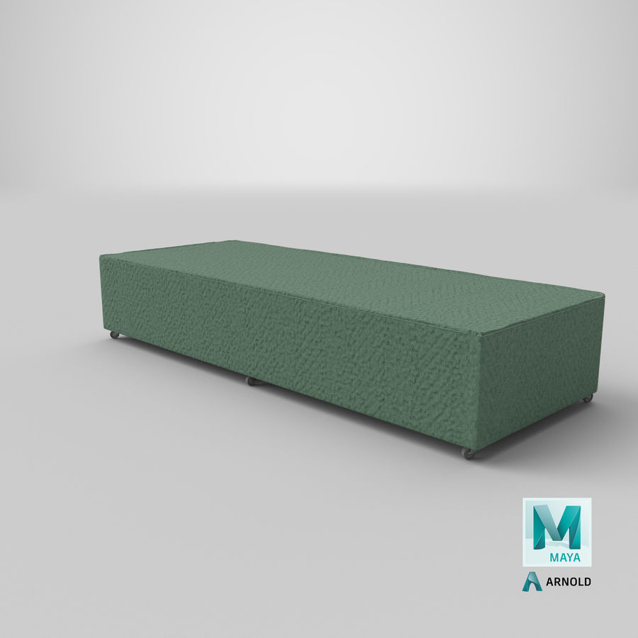 Bed Base 04 Mint royalty-free 3d model - Preview no. 25