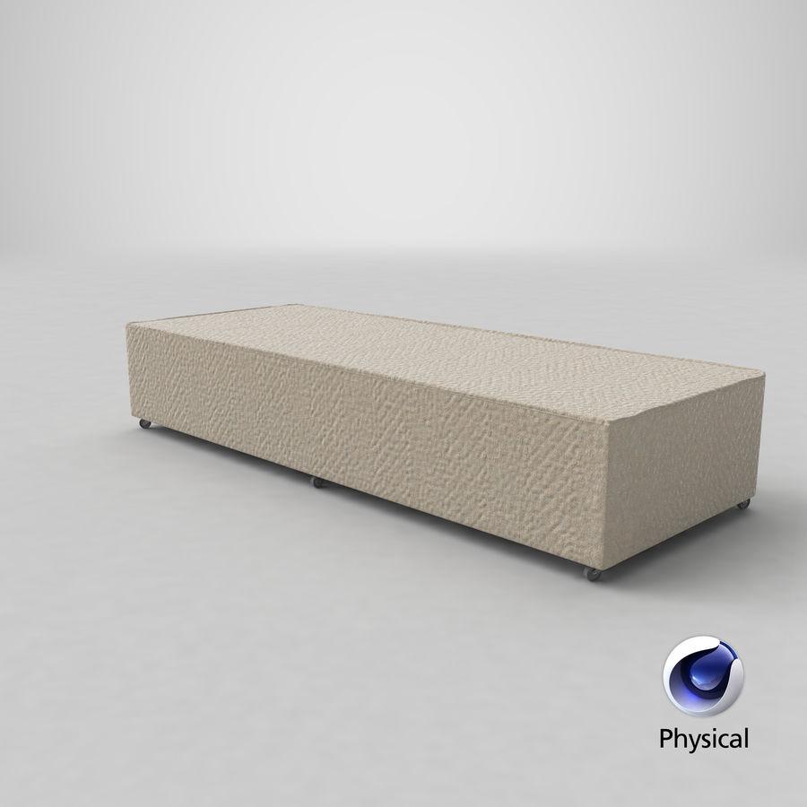 ベッドベース04オートミール royalty-free 3d model - Preview no. 20
