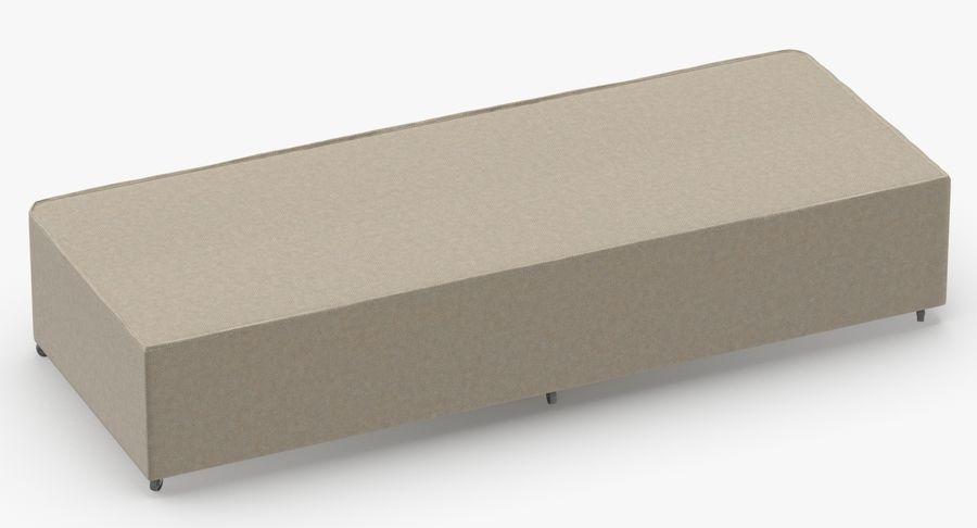 ベッドベース04オートミール royalty-free 3d model - Preview no. 5