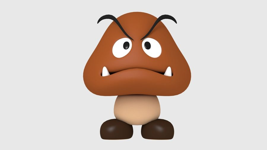 Postać Goomba od Super Mario royalty-free 3d model - Preview no. 3