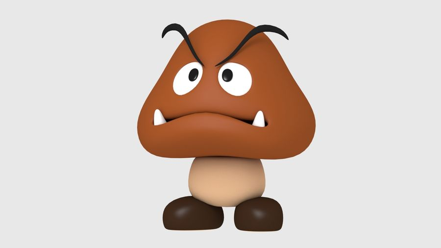 Postać Goomba od Super Mario royalty-free 3d model - Preview no. 2