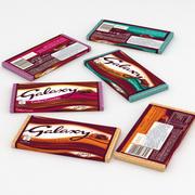 Mars Galaxy Chocolates 114g 135g Collectie 3d model