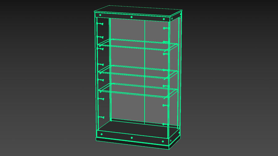Vitrine royalty-free 3d model - Preview no. 17