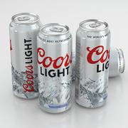 Beer Can Coors Light 500ml 3d model