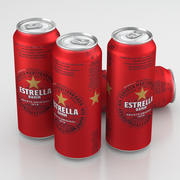 Beer Can Estrella Damm 500ml 2019 3d model