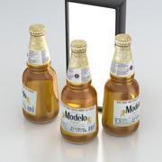 Beer Bottle Modelo Cerveza 355ml 3d model