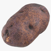 Lila Kartoffel 05 Spiel bereit 3d model
