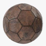 Vecchia palla marrone 3d model