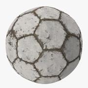 白い傷サッカーボール 3d model