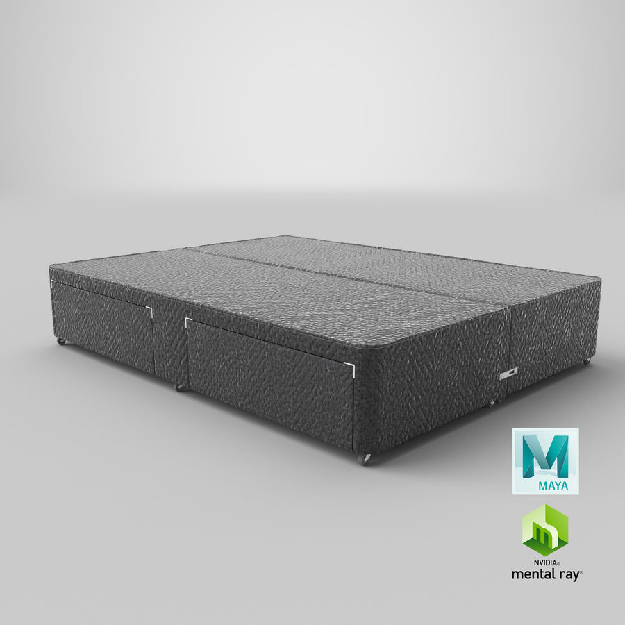 Bed Base 01 Charcoal royalty-free 3d model - Preview no. 27