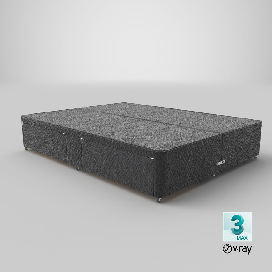 Bed Base 01 Charcoal royalty-free 3d model - Preview no. 25