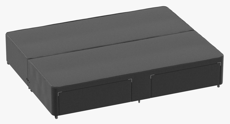 Bed Base 01 Charcoal royalty-free 3d model - Preview no. 2