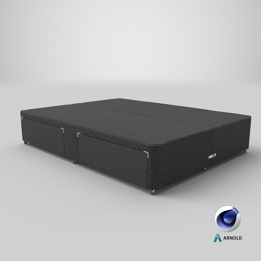 Bed Base 01 Charcoal royalty-free 3d model - Preview no. 22