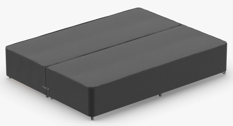 Bed Base 01 Charcoal royalty-free 3d model - Preview no. 6
