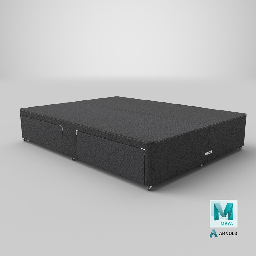 Bed Base 01 Charcoal royalty-free 3d model - Preview no. 26