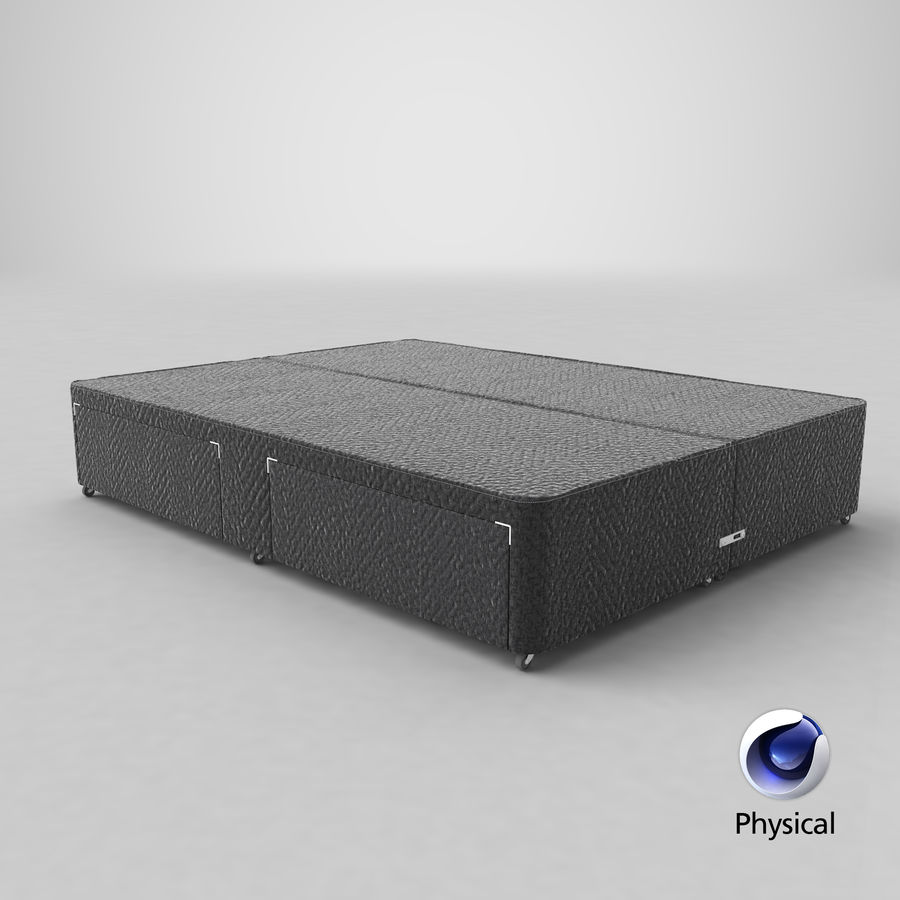 Bed Base 01 Charcoal royalty-free 3d model - Preview no. 21
