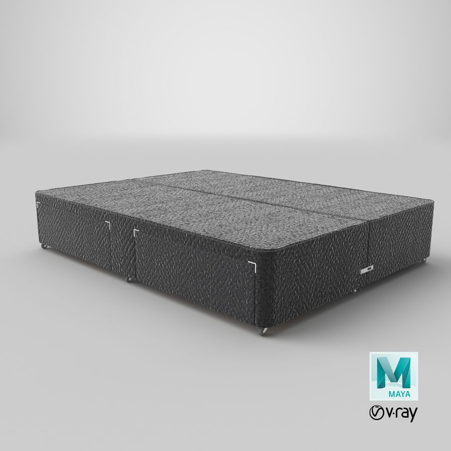Bed Base 01 Charcoal royalty-free 3d model - Preview no. 28